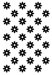 Daisy background unmounted rubber stamp
