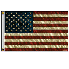 American Flag Distressed / Aged Design Flag 3' x 5' Flag with Grommets #1068