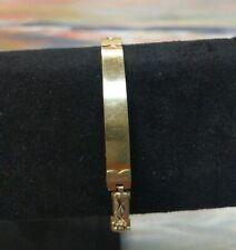 """14k Solid Yellow Gold  fancy Link ID Bracelet ~ 7.5"""" ~ 13 Grams"""