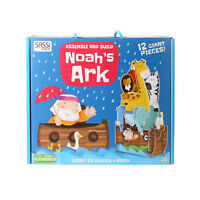 Assemble and Build Noah's Ark 12 Giant 3D Puzzle Pieces & Book ECO FRIENDLY