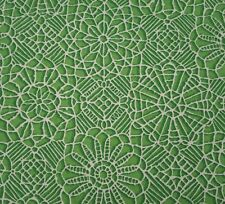 Amazing Lace BTY Quilting Treasures Green White 100% Cotton Screenprint 23632 HG