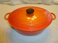 Le Creuset # 31 Oval Cast Iron Ducth Oven Pot Orange - 6.75 Quarts ?