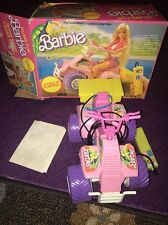 1986 Tropical Barbie Remote Control Quad Cycle By Arcp No.7932 Wheel Popping