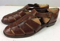 Cole Haan Bragano Brown Woven Leather Loafers Fisherman Sandals Men's Sz 10.5 M