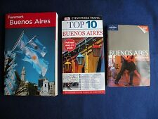 3 BUENOS AIRES Travel Guides Maps Lonely Planet Frommer's DK Eyewitness Books