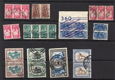 GVI SOUTH AFRICA USED BI - LINGUAL PAIRS / BLOCKS 1942 - 45 - 11 ITEMS SEE SCANS