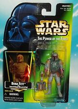STAR WARS POTF GREEN HOLOGRAM CARD BOBA FETT FIGURE COLLECTION 3