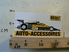 STICKER,DECAL BEQU AUTO ACCESSOIRES NO 7 YELLOW  FORMULA ONE F1 RACE CAR LARGE