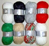 Woolyhippo Dazzle DK Glitter Yarn Acrylic Polyester Double Knitting 100g Wool