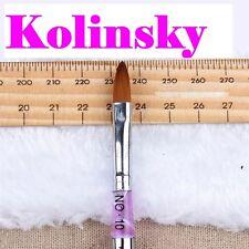 GENUINE KOLINSKY size 10 SABLE  ACRYLIC LIQUID & POWDER NAIL BRUSH
