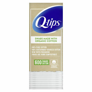 Q-Tips Made with Organic Cotton Swabs - 600 Count