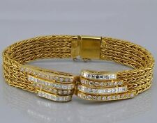 Bracelet Diamond Yellow Gold Vintage Fine Jewellery