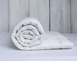 Merino Wool Duvet Quilt Super King Size Bed Light Weight  Wool Cotton 4.5 tog