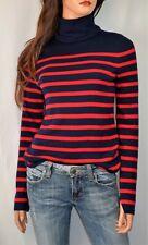 EQUIPMENT Wilder Striped Silk Blend Turtle Neck Sweater Size Small