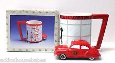 "VINTAGE ""1950 CHEVY CAR FIRE DEPT CHIEF MUG"" five and dime Originals COFFEE CUP"
