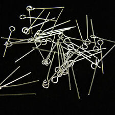 500 X 0.6MM X 20MM EYEPINS  Sliver plate JEWELLERY  findings