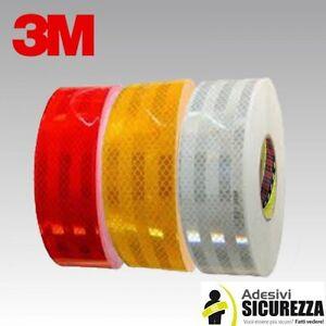 Pellicola adesiva omologata retroriflettente 3M™ Diamond Grade 983 55mm x 10MT