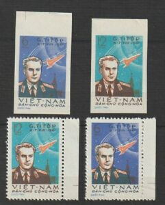 Vietnam Stamp Gherman Titov's Space Flight Sc #174 - 175 Impert + Perforated MNH