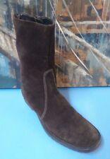 VALERIE STEVENS GRAMERCY  Women's brown Suede low heel knee boots US Sz 6.5M
