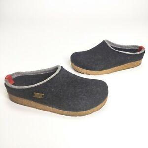 Haflinger Kris Grizzly Felt Wool Clogs Charcoal Size 8 US 39 EU 711056-77