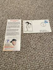 Limited Mickey Mantle Spavinaw OK Birthplace Day 1989 Postmarked Stamp Signed.