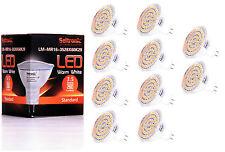 10X GU5.3 MR16 LED Lampe von Seitronic 3,5 Watt, 280LM 60 LEDs Warm weiß 2900K