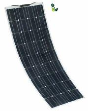 100W Semi Flexible 12V Monocrystalline Solar Panel with 5M of solar cable camper