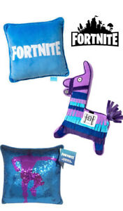 FORTNITE Decorative Reverse Sequin Loot Llama Logo Throw Novelty Bedding Pillows