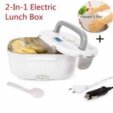 Boîte à Repas Lunch Box Nifogo Chauffant Électrique Inox 12V/220V 2 en 1 Gris