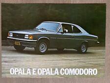 1981 Chevrolet Opala & Opala Comodoro original Brazilian sales brochure