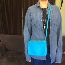 Celine Trio Crossbody Bag Turquoise Blue $1100