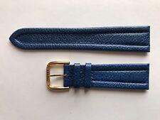 Vintage Tissot 22mm Azul Acolchado Cosido Correa de Cuero Hebilla de RG