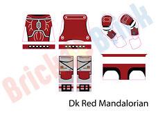 Lego Star Wars Custom Mandalorian Water Slide Decal - New Dark Red Mandalorian