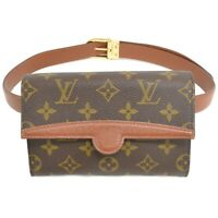 Louis Vuitton Pochette Arche M51975 Monogram Waist Body Bag Pouch Brown Gold