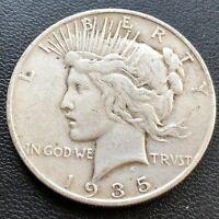 USA 1935 S Peace Dollar $1 Silber Selten #23200