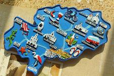 Karte von Ibiza, Spanien Reiseandenken 3D Kühlschrankmagnet Souvenir Magnet