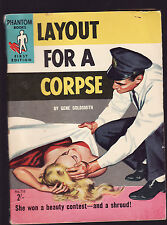 GENE GOLDSMITH - LAYOUT FOR A CORPSE  FIRST AUST ED'N pulp fiction