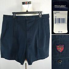 POLO GOLF Ralph Lauren NEW NWT Men's 42 Waist Navy Blue Pleated Front Shorts