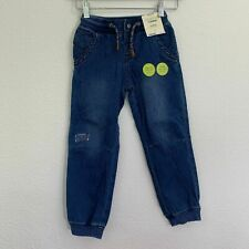 NWT Boys 5T Toddler Genuine Kids Osh Kosh Knit Denim Blue...