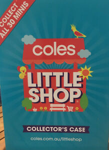 Coles-Little-Shop Series1 Full Set with Collector Case In Great Condition