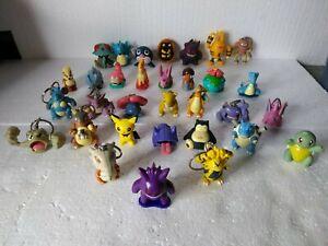 Vintage Pokemon Figures, Keychains, Figures, Assorted Lot of 32 - Burger King