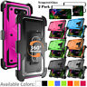 For LG G5 G7 G8 ThinQ Phone Case,Belt Clip Cover Combo+Tempered Glass Protector