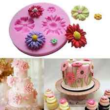 Baking Tools Fondant Sugar Cake Bakeware Silicone Mold Three Flowers Mould