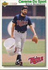 622 STEVE BEDROSIAN MINNESOTA TWINS  BASEBALL CARD UPPER DECK 1992