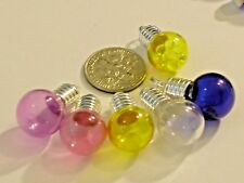 1pc. COLOR Round little Glass facet urn vial charm crystal ball fillable bottle