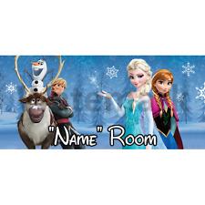 Disney Frozen Personalised Bedroom Door Sign - Any Name/Text (F1)