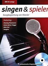 Gesang + Klavier Noten : singen und spielen SONGBEGLEITUNG am Klavier  POP