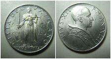 Citta' del Vaticano Pio XII 5 Lire 1951 fdc/unc KM 51.1