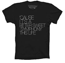 THE VERVE T-SHIRT BITTER SWEET SYMPHONY INSPIRED BRIT POP AVAILABLE IN COULORS