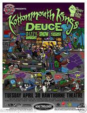 Kottonmouth Kings/ Deuce/ Dizzy Wright 2013 Portland Concert Tour Poster-Hip Hop